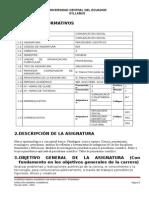 Formato Syllabus - Periodismo Científico