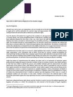 2015.10.30 Open Letter to HRVP Mogherini on Egypt