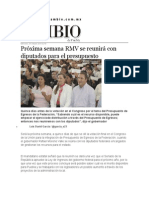 28-10-2015 Cambio de Puebla - Próxima Semana RMV Se Reunirá Con Diputados Para El Presupuesto