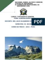 Diap. Top. I Generalidades (1era Clase) - 2015B Civil