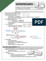 Chemistry of Antidepressants