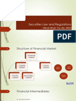 Securities Law and Regulations - Nitesh Bhati 100715 for Students