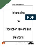 14 - Production Leveling & Balancing Rev 1 --Advance Cluster