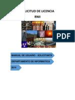 Manual Usuario Inscripción  de Instalaciones