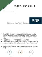 (5) Otomata NFA Dengan Transisi (E-Move)