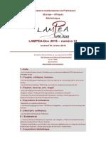 LAMPEA-Doc 2015 – numéro 31 / vendredi 30 octobre 2015
