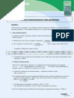 Exo10 Tableau d Amortissement d Emprunt Suite Geometrique Grahp25