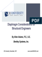 2011.11.08 - Diaphragm Considerations for Structural Engineers