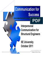 2011.10.12 - Interpersonal Communication for Structural Engineers