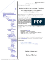 Kabbalah Meditation From Torah to Self-Improvement to Prophecy