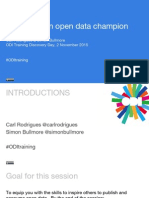 How to Be an Open Data Champion with Carl Rodrigues and Simon Bullmore