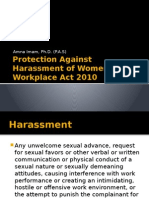 Protection Against Harassment of Women at Workplace Act
