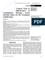Effectiveness of Combination Therapy Versus Steroids Alone, For the Treatment of Bells Palsy
