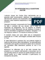 Giulia Rodano interviene sulla questione AGCOM