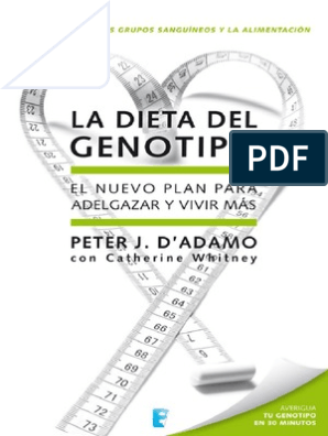 Como funciona la dieta del genotipo