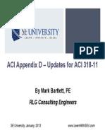 2013.01.09 - ACI Appendix D - Updates for ACI 318-11