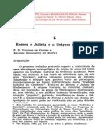 Benzaquen-Viveiros de Castro. Romeu e Julieta e a Origem Do Estado