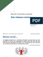 Comment faire un projet Web? Reseaux Sociaux 11/15