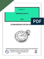 Modul 3 Standardisasi Sistem Kerja