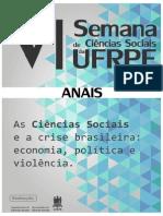 Anais da VI Semana de Ciências Sociais da UFRPE