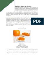 Mermelada Casera de Naranja
