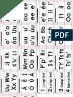 Vocales, consonantes y números del maya