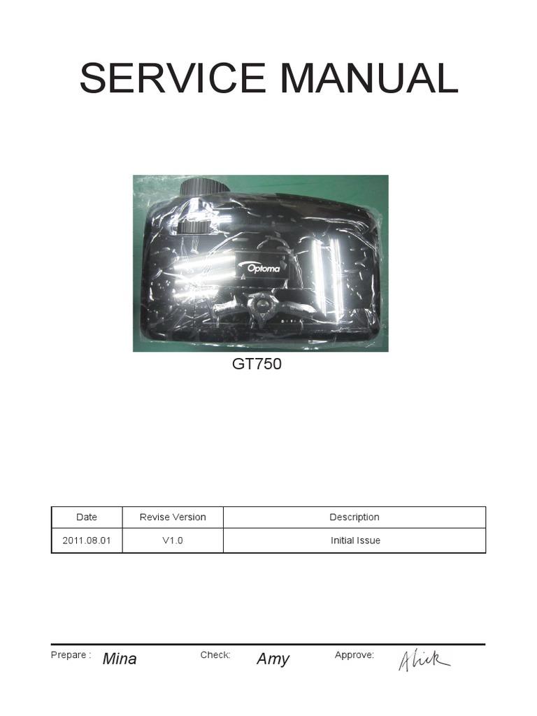 Optoma GT750 Service Manual V1 0 | Video | Stereoscopy