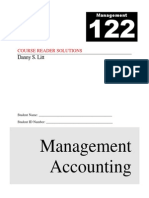 Management 122 Course XXXXZAXReader - Rev J - Solutions