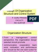 Design Organization Management Control