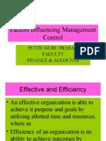 Influencing Management Control