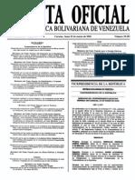 Sumario Gaceta Oficial 39.391