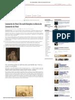 As Contribuições à Ciência de Leonardo Da Vinci