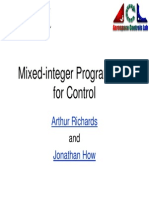 MILP for Control