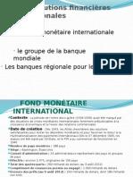 Les institutions financières internationales
