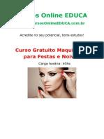 Curso Maquiagem Para Festas e Noivas