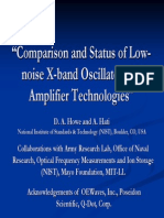 Comparison and Status of Low-Noise X Band Oscillators and Amplifiers
