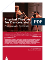 Postgraduate Certificate in Physical Theatre for Dancers and Actors