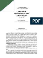 Casaldaliga Pedro - La Muerte Que Da Sentido a Mi Credo