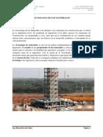 Curso de tecnología de Materiales para la ingeniería civil.