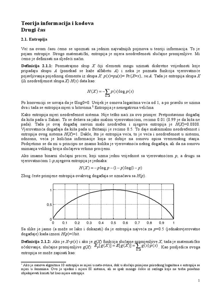 Teorija informacija i kodova - Skripta (2. dio)