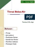 Titrasi Bebas Air- Tursino
