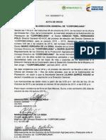 Acta Convocatoria Eleccion Directer Corpomojana Periodo 2016 - 2019