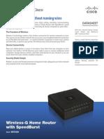 Wireless-G Home Router With SpeedBurst WRT54GH