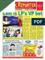 Bikol Reporter October 4 - 10, 2015 Issue