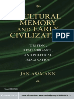 Assmann, Jan - Cultural Memory and Early Civilization. Writing, Remembrance, And Political Imagination