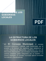 Organos de Los Gobiernos Locales