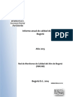 Informe Anual 2013 Calidadaire Rmcab