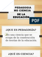 La Pedagogia Como Ciencia