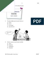 English Exam 3 Paper 1 St Joseph Kuching