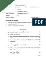 Physics Mathematical Physics -III Sem-IV-2370